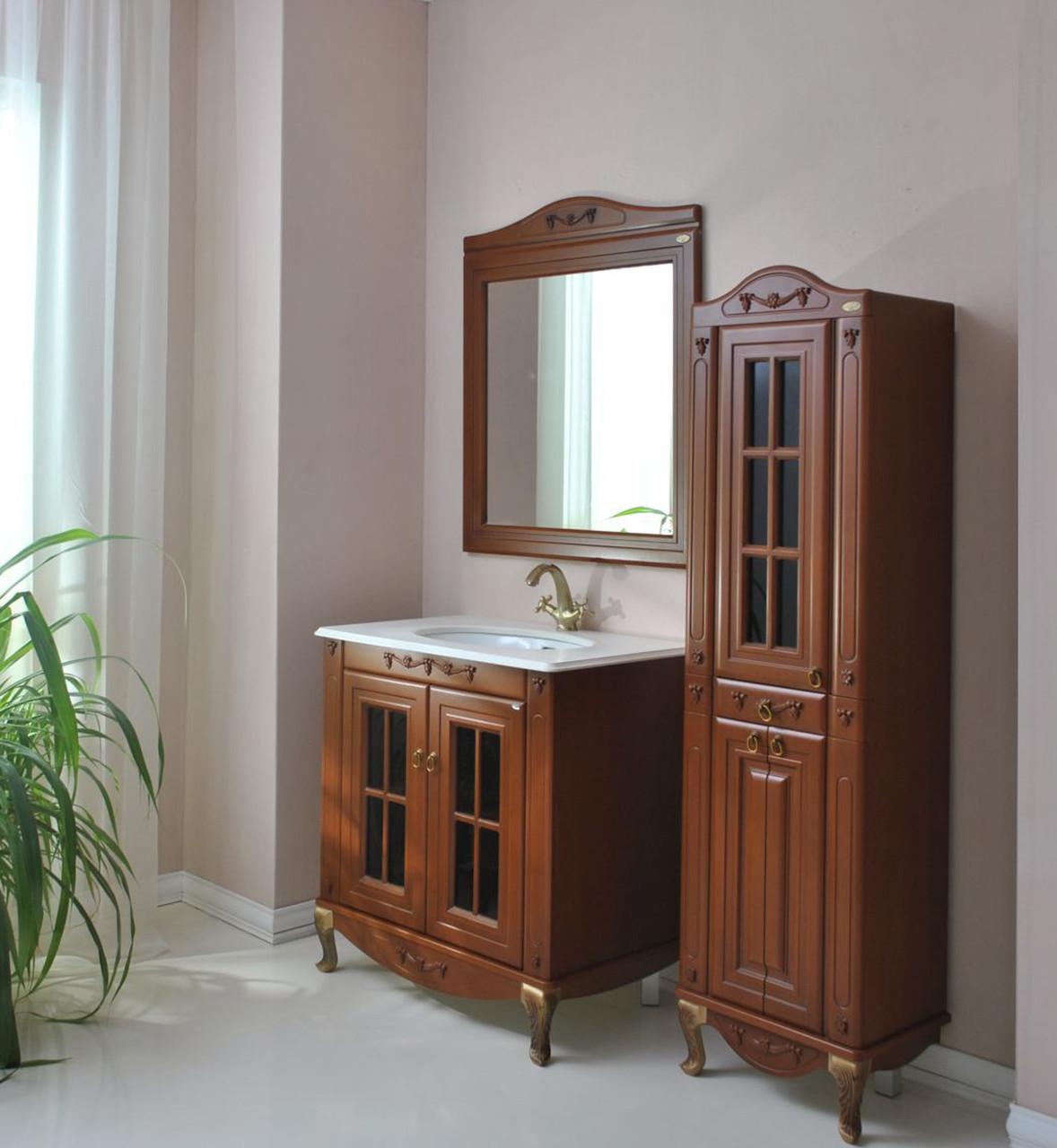 Комплект мебели Ольвия (Атолл) Верона 85 витрина столешница камень scuro
