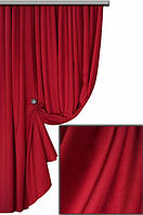 Ткань для пошива портьер Мультивельвет, красный