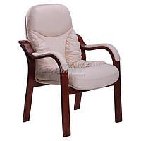 Кресло Буффало CF коньяк Кожа Люкс комбинированная Ваниль, фото 1