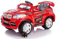 Детские электромобиль Джип BMW красный  на радиоуправлении