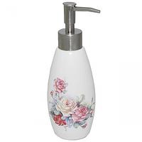 Диспенсер для мыла Розы 340ml 19.5*6см 888-035