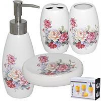 Набор аксессуаров для ванной комнаты Розы ,4пр. 888-039