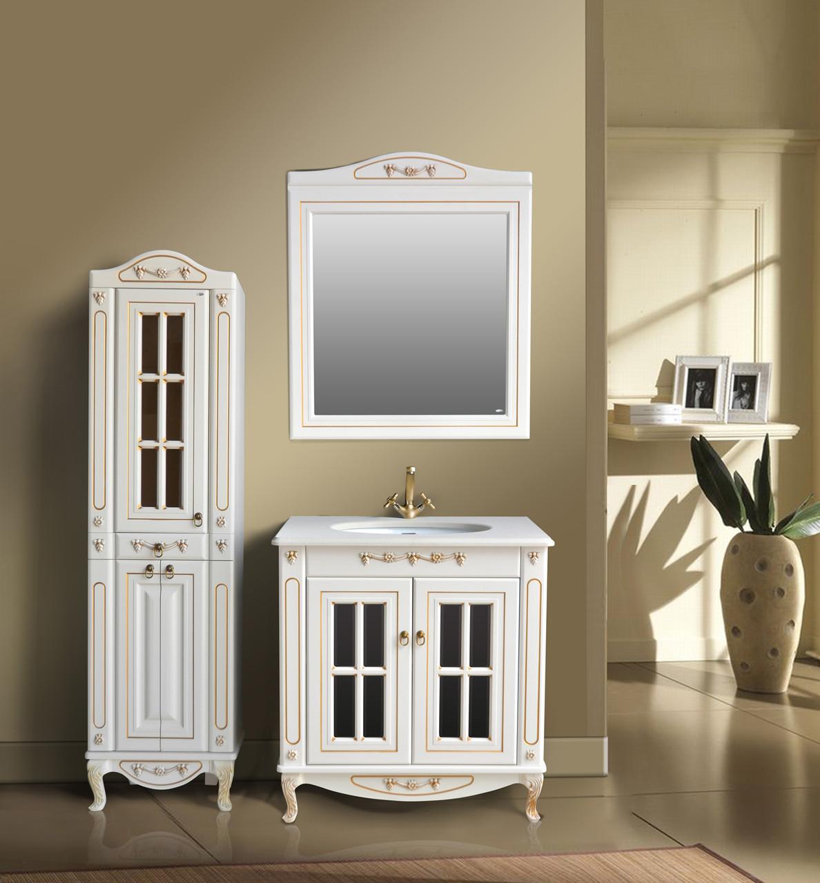 Комплект мебели Ольвия (Атолл) Верона 85 витрина столешница камень dorato