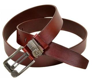 Мужской кожаный ремень W0017 red (красный) 4 см