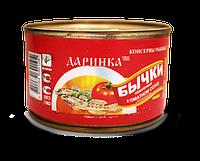Бычки обжаренные в томатном соусе  банка 5, фото 1