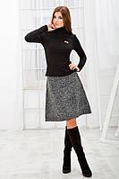 Костюм гольф+юбка зимний черный