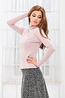 Костюм гольф+юбка зимний розовый