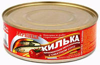 Килька черноморская неразделанная в томатном соусе, фото 1