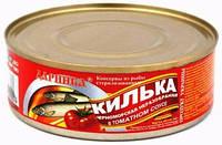 Килька черноморская неразделанная в томатном соусе