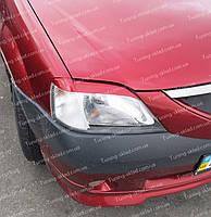 Реснички Рено Логан 1 (накладки на передние фары Renault Logan 1), фото 1