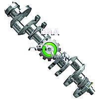 Вал коленчатый (без вкладышей)(ЯМЗ) 238ДК-1005009-30