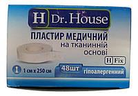 Лейкопластырь Dr.House катушка тканевая основа 1*250 см