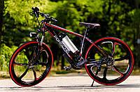 Электровелосипед PORSHE electrobike RD черно-красный