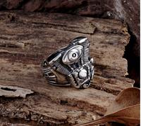 Кольцо для байкера мужское из стали Харлей