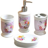 Набор аксессуаров для ванной комнаты 4 пр 'Пион' Snt 888-090
