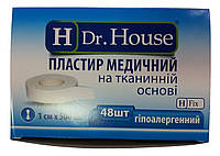 Лейкопластырь Dr.House катушка тканевая основа 1*500 см