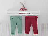 Набор брюк розовые/зеленые