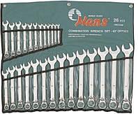 Набор ключей комбинированных изогнутых 6-32 мм HANS 26 предметов лента (166326М)