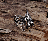 Кольцо для байкера мужское из стали 316 L. Крылья 18,19,20р, фото 1