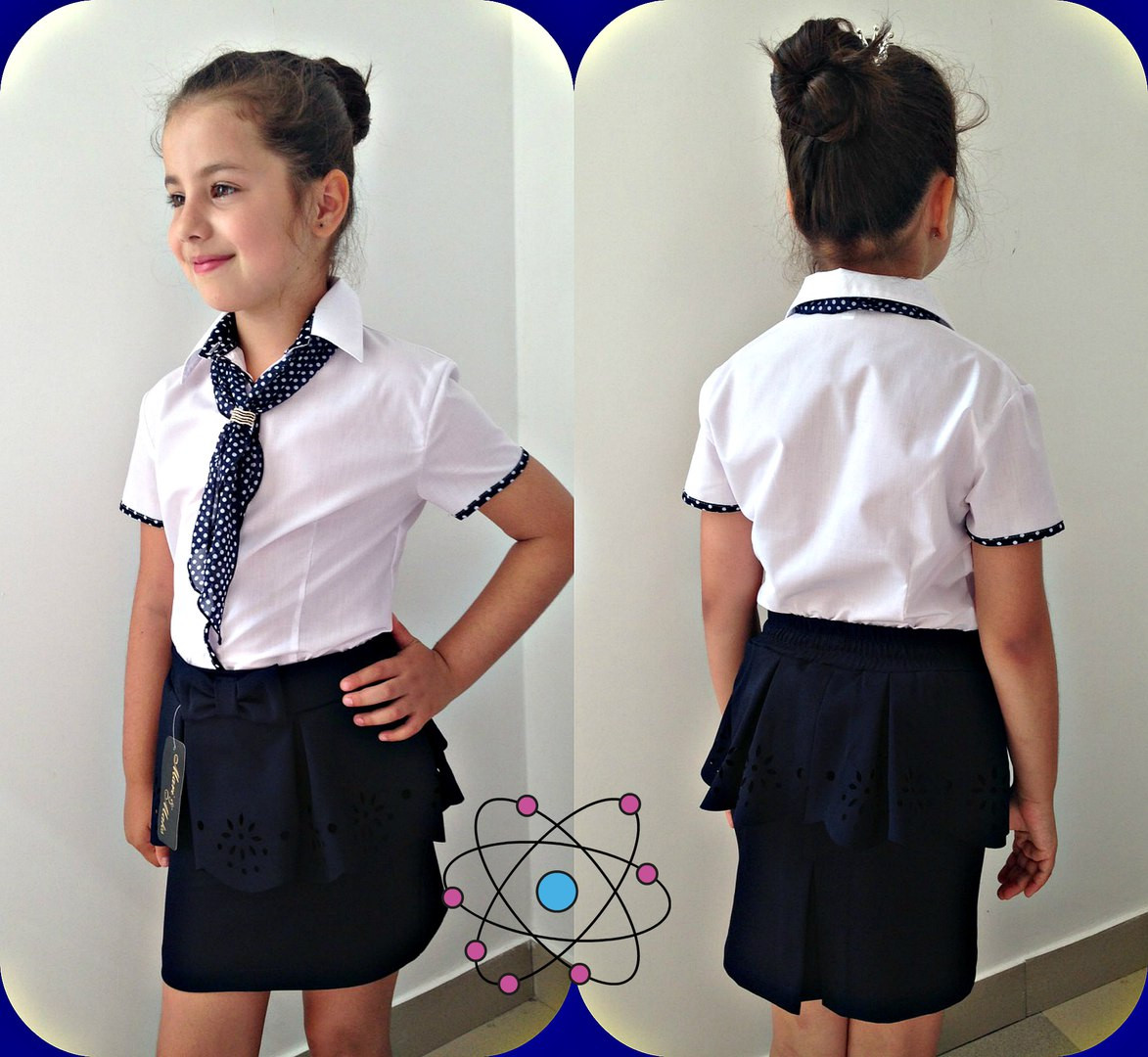 ba27582a948 Детская школьная блуза для девочки
