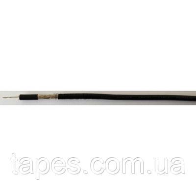 Кабель коаксиальный RG-174, 50 Ом, центральная жила - луженая медь многожильная, цвет - чёрный, за 1 метр, (Та
