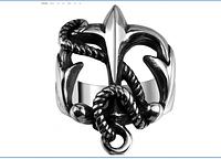Кольцо мужское из стали 316 L. Панк. Якорь