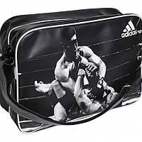 Лакированная сумка Adidas с изображением бойцов ММА