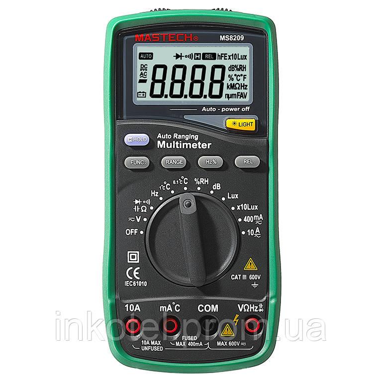 MS8209 Mastech Мультиметр цифровой. Встроенный датчик влажности,освещенности и уровня шума. DC\AC 600B Киев - OOO «ИНКОТЕЛ СИСТЕМ» в Киеве
