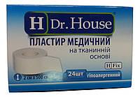Лейкопластырь Dr.House катушка тканевая основа 2*500 см