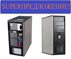 Компьютер Dell Optiplex 760 (Tower), Intel Core2Duo 2.33GHz, RAM 2ГБ, HDD 160ГБ