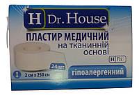 Лейкопластырь Dr.House катушка тканевая основа 2*250 см
