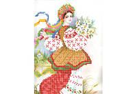 """Схема для вышивки бисером """"Украиночка"""""""