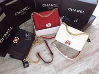 Клатч CHANEL BOY шанель бой вафля Белая Модные сумки 2016
