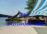 Сітка затінюють біло-блакитна 4м 70% Угорщина, фото 4