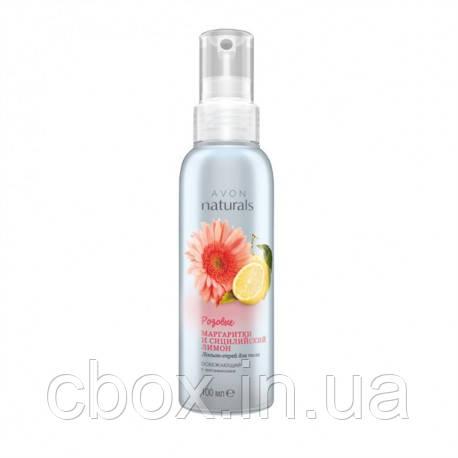 """Освіжаючий лосьйон-спрей для тіла """"Рожеві маргаритки і сицилійський лимон"""" Avon Naturals, Ейвон, Ейвон,100мл"""