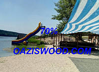 Сетка рулон затеняющая бело-голубая рулон 4м 70% Венгрия, фото 1