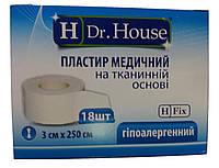Лейкопластырь Dr.House катушка тканевая основа 3*250 см