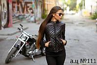 Модельная  стёганная курточка эко кожа