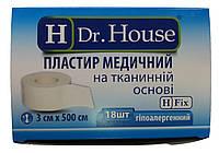 Лейкопластырь Dr.House катушка тканевая основа 3*500 см