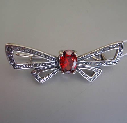 Серебряная брошь Бабочка, фото 2