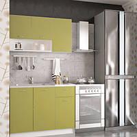 Кухонный гарнитур 1,2 метра из 4 модулей оливковая (кухонный комплект мебели)