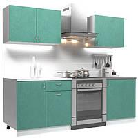 Кухонный гарнитур 1,4 м из 4 модулей зеленая (кухонный комплект мебели)