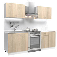Кухонный гарнитур 1,6 метра из 4 модулей бежевая (кухонный комплект мебели)