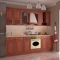 Кухонный гарнитур МДФ 2,6 м из 8 модулей орех (кухонный комплект мебели)