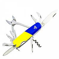 Нож швейцарский Ego tools A01.11 сине-желтый