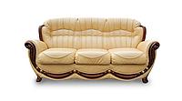 """Кожаный мягкий диван """"Джове"""" (190 см)"""