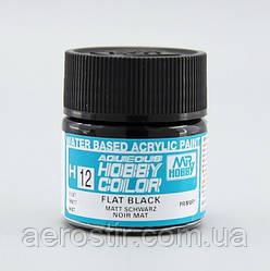 Краска для моделей Mr.Hobby H12 Flatt Black Черный