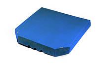 Гофрокоробка для пиццы синяя (ребристая фактура)
