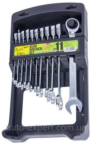 Набор ключей комбинированных трещоточных 8-19 мм Alloid 11 предметов (НК-2081-11)