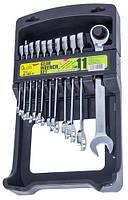 Набор ключей комбинированных трещоточных 8-19 мм Alloid 11 предметов (НК-2081-11), фото 1